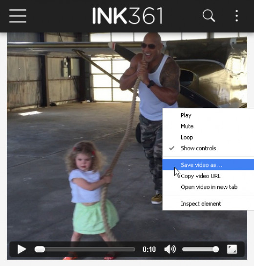"""Right click on an Instagram video in ink361.com and download it with the """"Save video as"""" option"""
