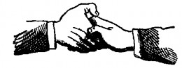 Boaz entered apprentice hand shake