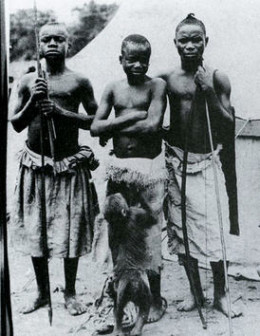 Ota (middle) in the Congo