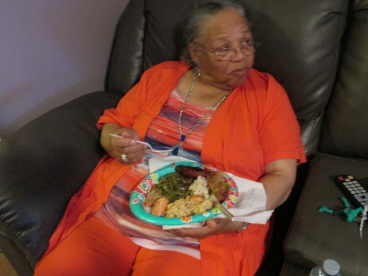 Grandmom Susie, attended the shower as well for her granddaughter.