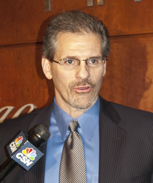 Former Flyers star goaltender Ron Hextall is now their GM.  Philadelphia hasn't seen a Stanley Cup since their Broad Street Bullies days.