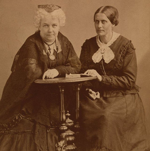 Elizabeth Cady Stanton and Susan B. Anthony about 1870