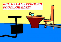 Buy Halal approved food if that is what you want. Hopefully people are not being forced into doing so.