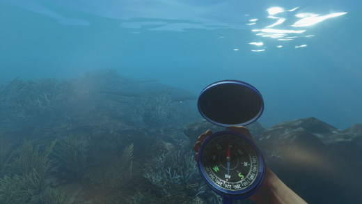 Compasses are very useful in this game.  Even underwater.