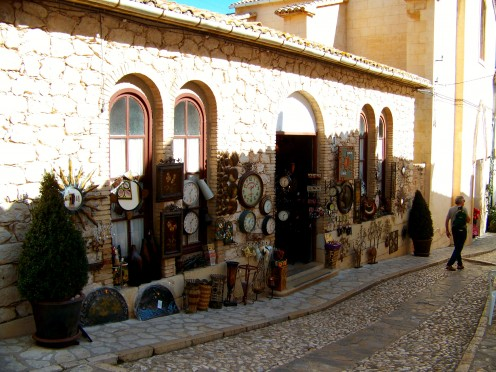 The Gift shop next to the church