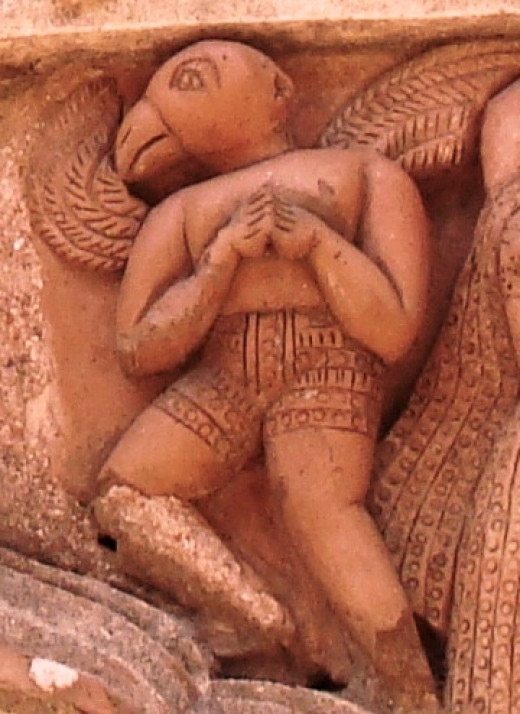 Garuda  in terracotta in a temple of West Bengal