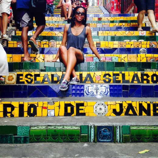 Me during my Brazil exchange, on a trip to Rio de Janeiro!