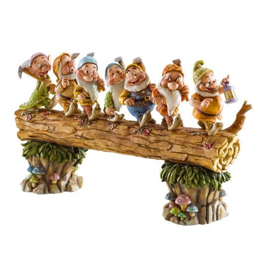 Disney Traditions by Jim Shore Seven Dwarfs Walking Over Fallen Log Figurine