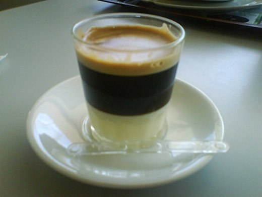 Cafe Bombon -  espresso served with sweetened condensed milk.
