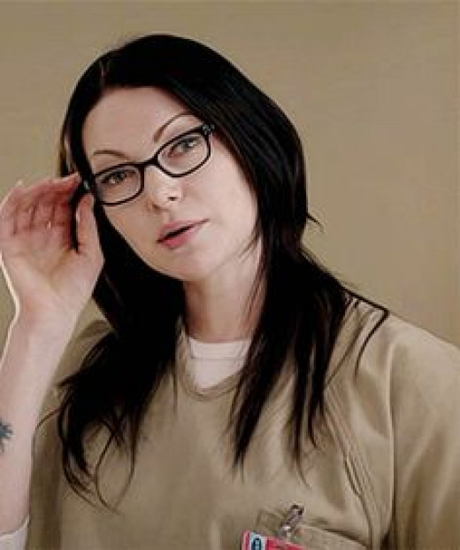 Alex- drug smuggler, Piper's ex girlfriend and prison girlfriend, very intelligent, condescending, sexual, manipulative