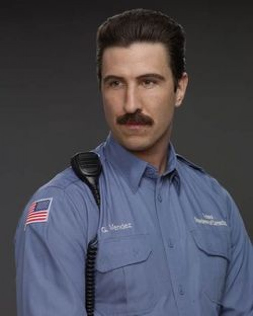 'Porn Stache'- guard, despicable (yet comedic) prison guard who makes gross comments and is the subject of the girls' ridicule