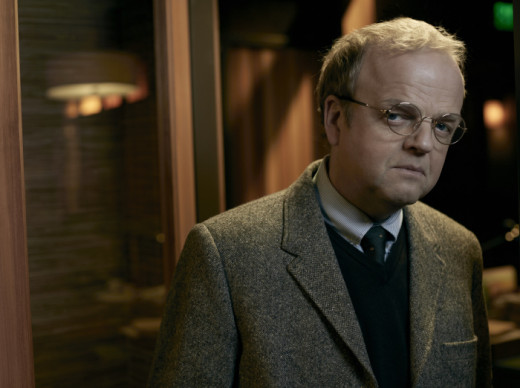 Toby Jones as Dr. Jenkins/David Pilcher, the man behind Wayward Pines