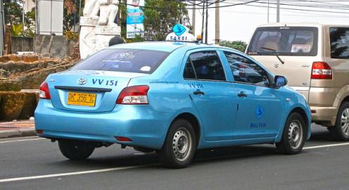Toyota Limo taxi in Kuta, Bali, Indonesia