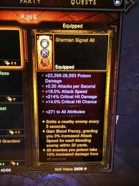 One of VERY many pieces of modded gear in Diablo 3 ROS.