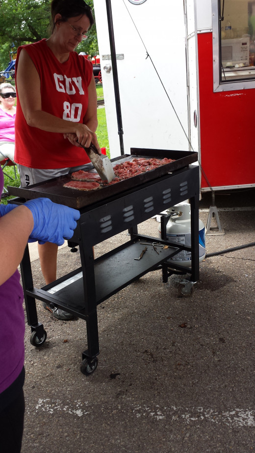 Grilling up some steak