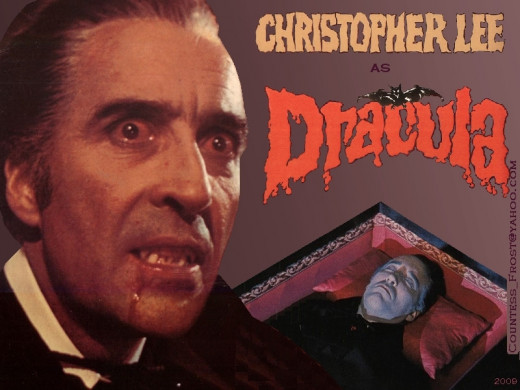 Count Dracula portrayed by Christoper Lee