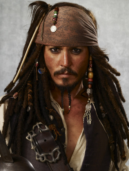 Captain Jack Sparrow portrayed by Johnny Depp
