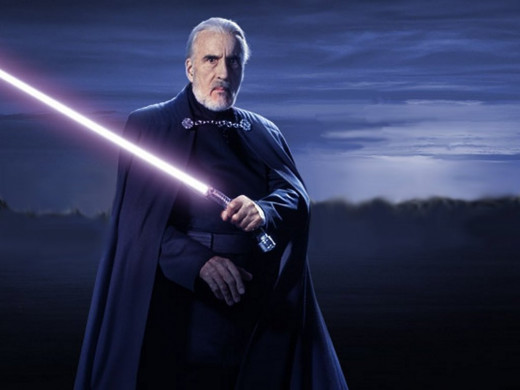 Count Dooku portrayed by Christopher Lee