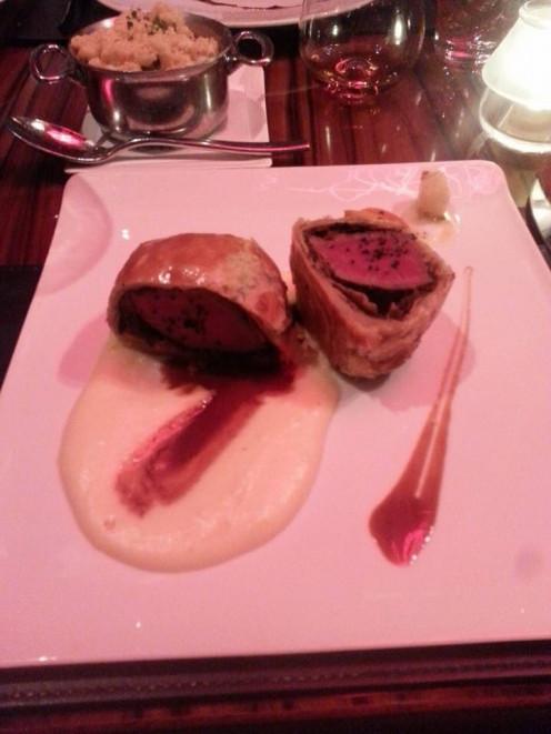 Beef Wellington, and Mac & Cheese, at Gordon Ramsay Steak,