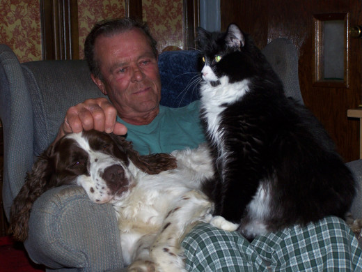 My husband, Doc and Blackie