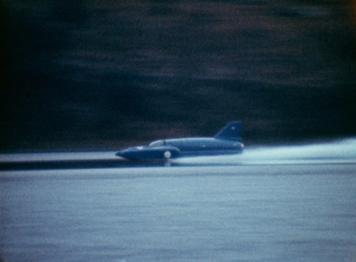 Donald Campbell in Bluebird on Coniston Water, 24 June 1967