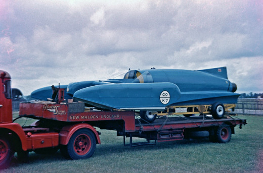 Bluebird K7 at Goodwood Racing Museum in 1960