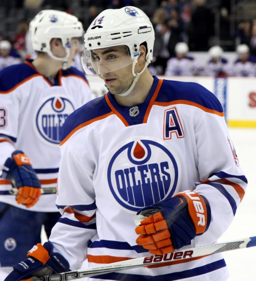 Jordan Eberle led the Oilers with 63 points and six power play goals this season.