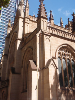 A Cathedral in Sydney, Australia.