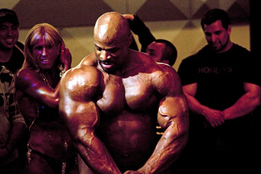 Ronnie Coleman 8 x Mr. Olympia Source Wikimedia Commons