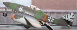 Model of the German jet fighter taken at a different angle.