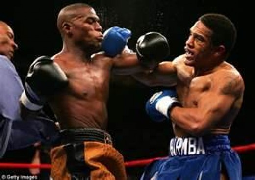 Floyd Mayweather defeated Sharmba Mitchell in a junior welterweight, non title affair.