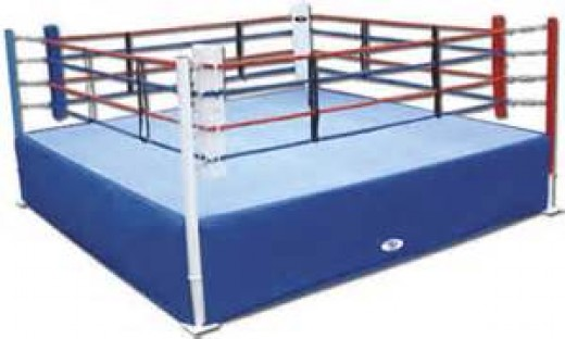 The boxing ring has four ropes instead of three to help prevent prizefighters from being knocked out f he ring and onto the floor.