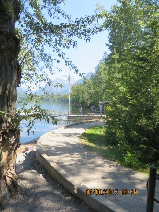 PATH LEADING UP FROM LAKE McDONALD BOAT DOCK
