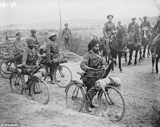 Indian troops during the Raj