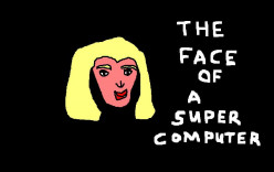 As In Red Dwarf,  the face of a futuristic computer might well be female.