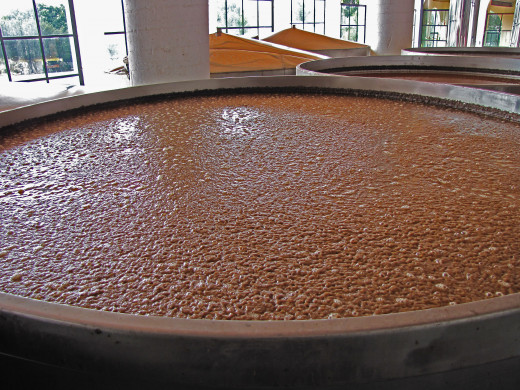 A fermentation vat at the Tres Mujeres distillery in Amititan, Jalisco, Mexico.
