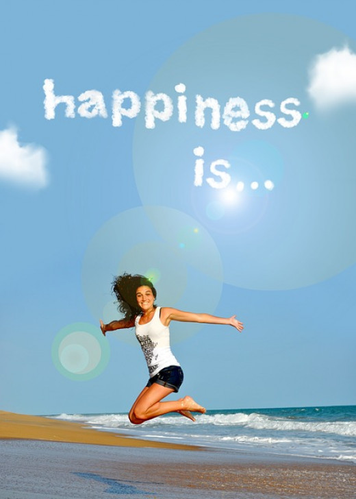 Happiness is living life to the fullest.