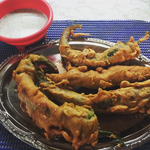 crispy and yummy fried chill pakora.