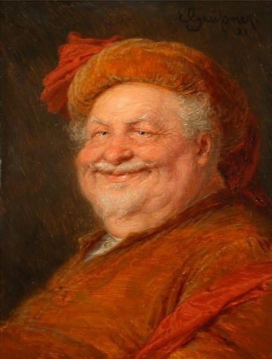 """""""Eduard von Grützner Falstaff"""" by Eduard von Grützner - http://www.hampel-auctions.com/. Licensed under Public Domain via Wikimedia Commons -"""