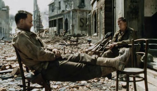 A scene from the movie 'Saving Private Ryan'