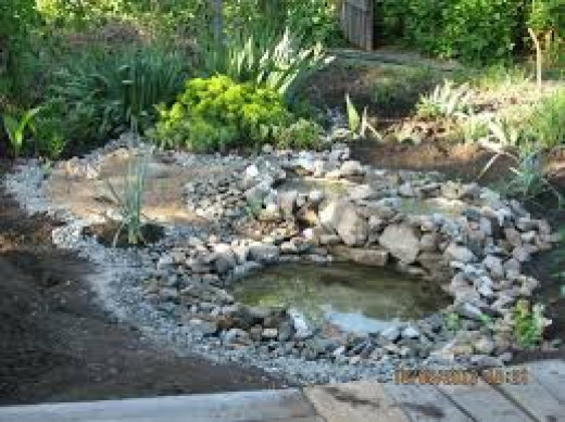 An example of a DIY project a Homemade pond