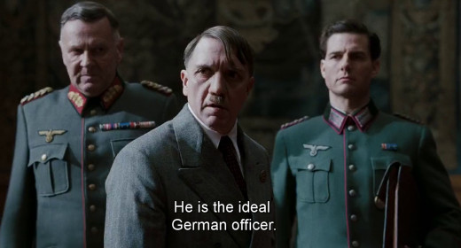 Tom Cruise As Colonel Stauffenberg With Adolf Hitler And Freidrich Fromm (Commander of the Reserve Army)
