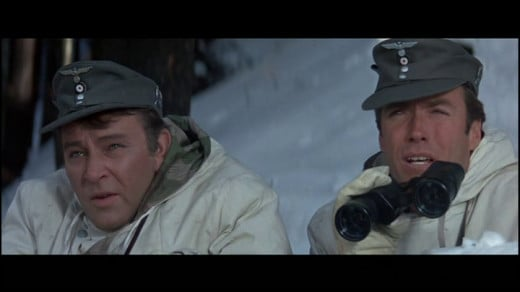 Richard Burton And Clint Eastwood In 'Where Eagles Dare'