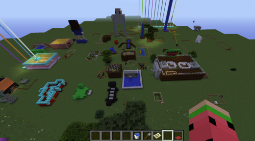A Minecraft world in creative mode