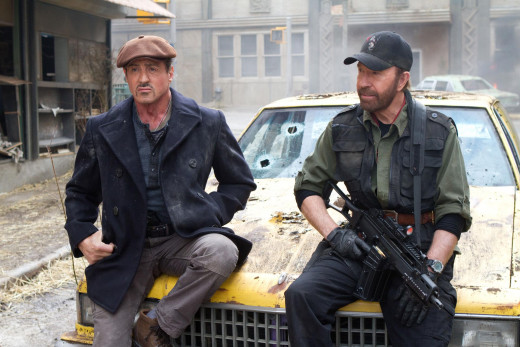 You know the bad guys have had it when Chuck Norris turns up!