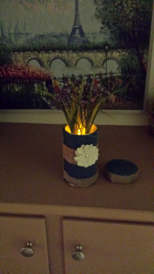 Option Two: Vase, Night, with accented light. May consider using as place setting for dinner.