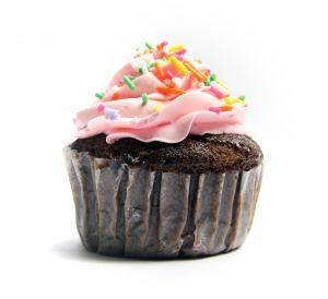 A fancy cupcake