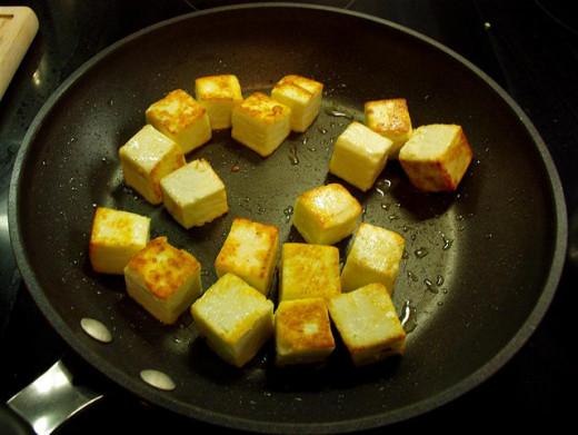 Paneer frying