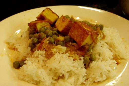 Msatar Paneer served with rice