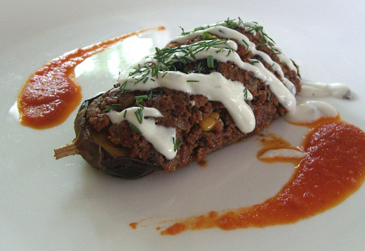 Stuffed eggplants are delicious and can be eaten as a snack of side dish.